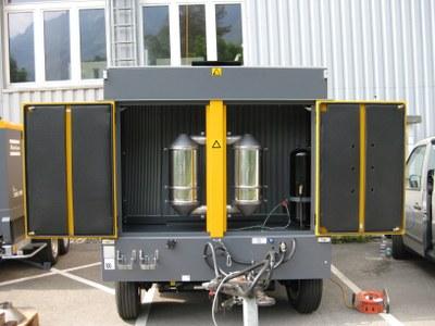 Fahrbarer Baukompressor